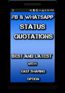 Status For FB and Whatsapp screenshot 1
