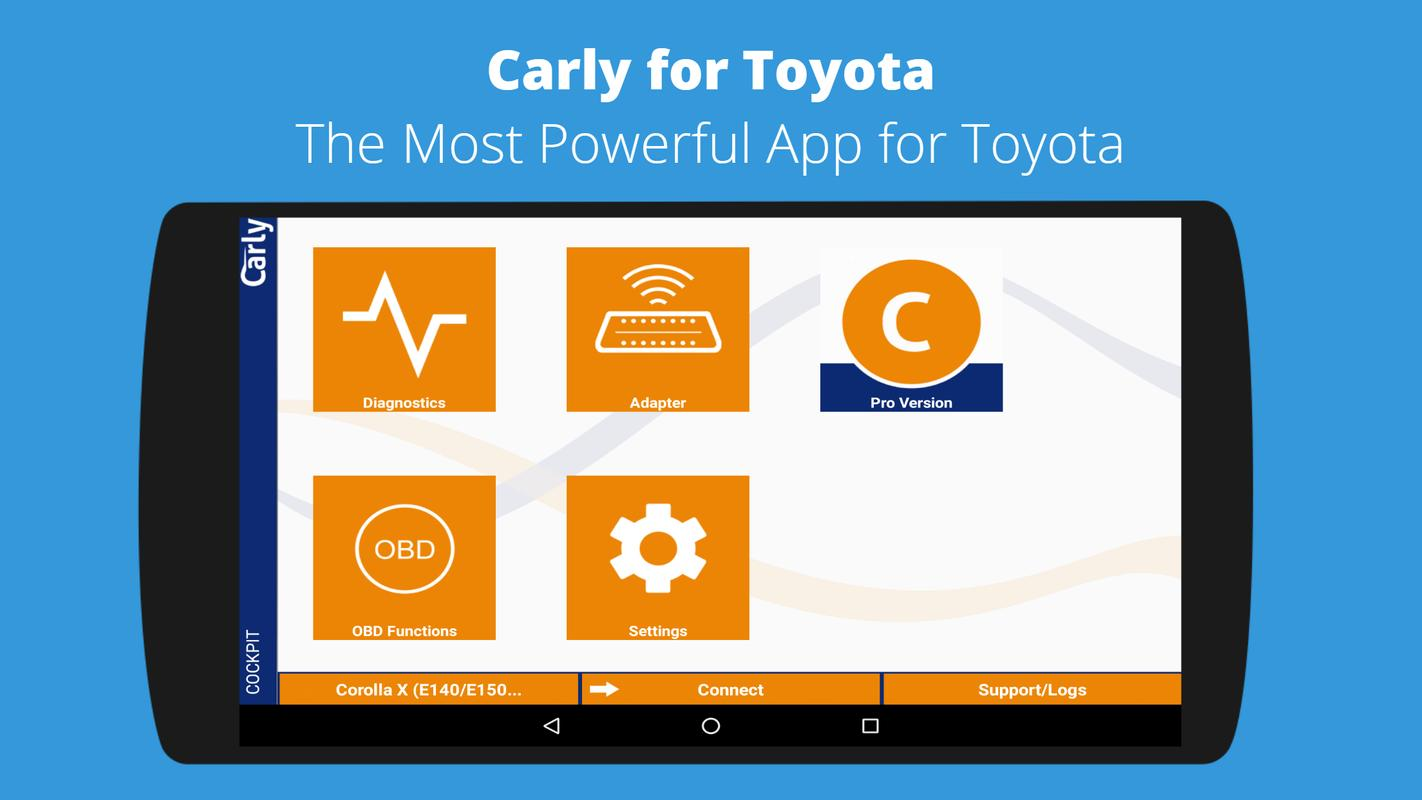 carly for toyota obd app for android apk download. Black Bedroom Furniture Sets. Home Design Ideas