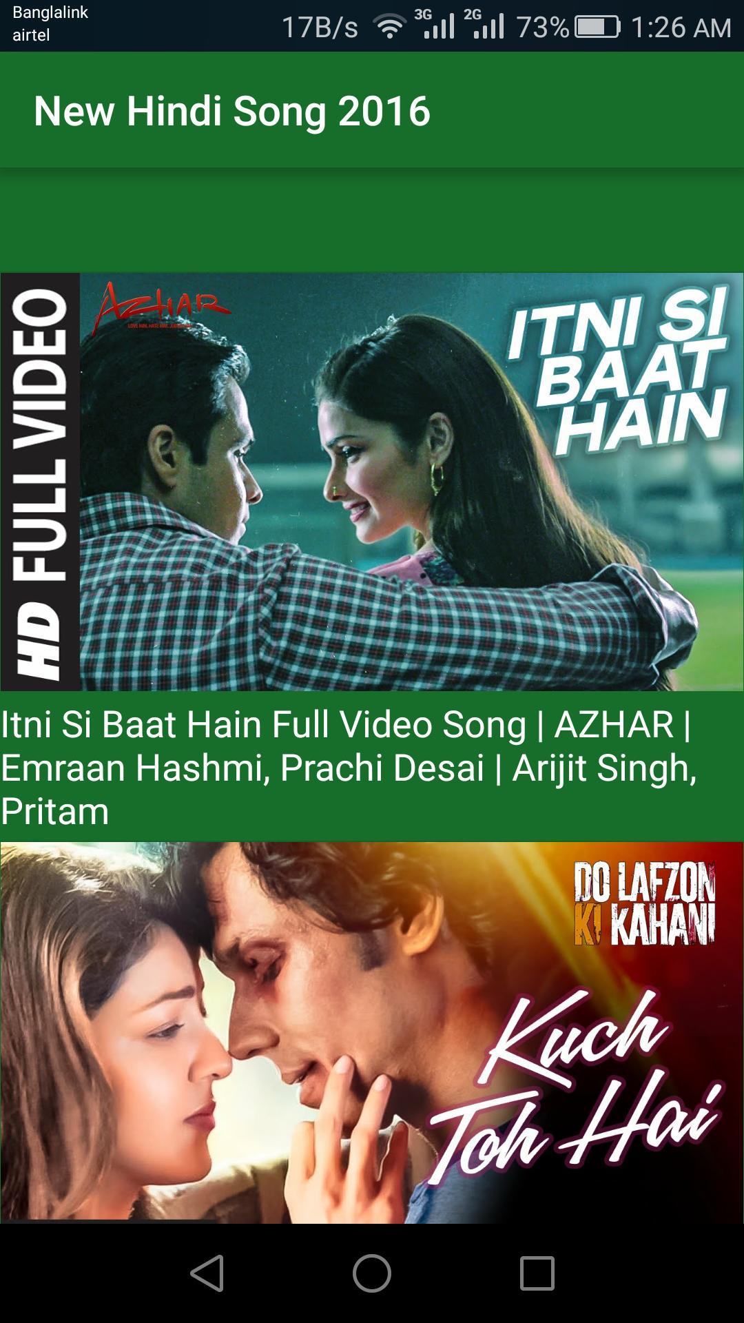 hindi movie video song download 2016