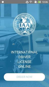 IAA. International driver's license poster