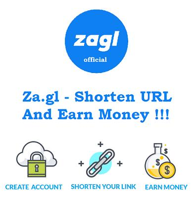 Zagl - Shorten URL & Earn Money ( Official za.gl ) for Android - APK  Download