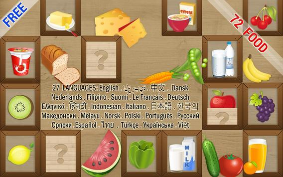 Kids Game – Memory Match Food poster