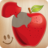 Food puzzle for kids icon