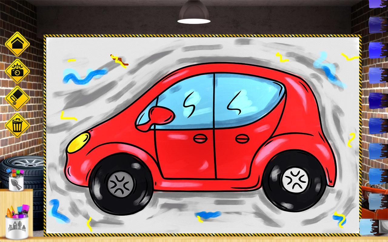 Cars Colouring Book For Kids Poster