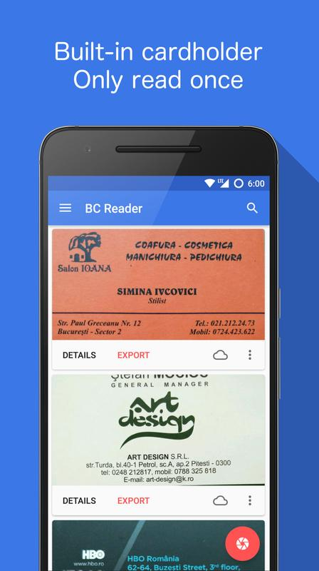Business card reader apk download free business app for android business card reader poster colourmoves