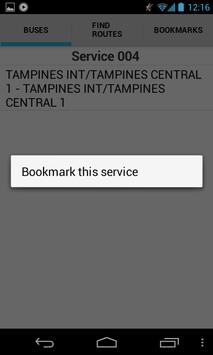 Singapore Bus Guide screenshot 1