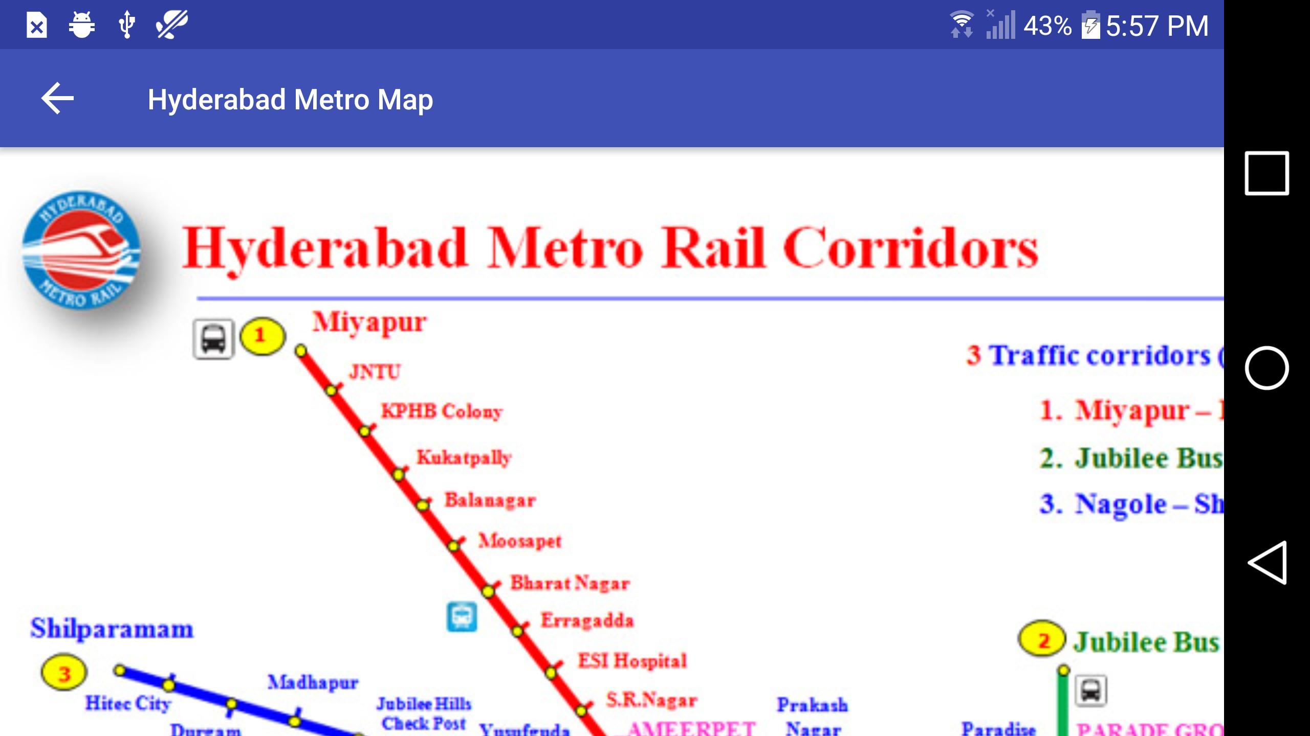 Hyderabad Metro Rail Map for Android - APK Download on