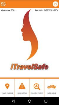 iTravelSafe ICICI Bank poster