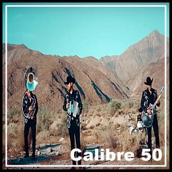 Calibre 50 Letra poster