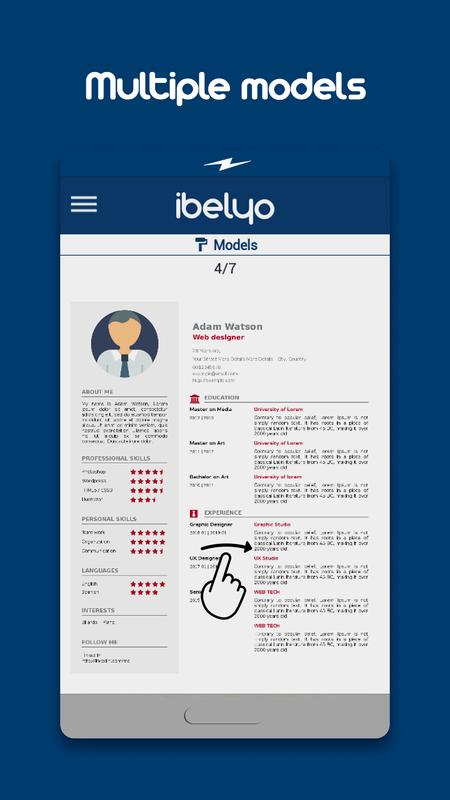 Resume Builder Ibelyo Cv Maker For Android Apk Download