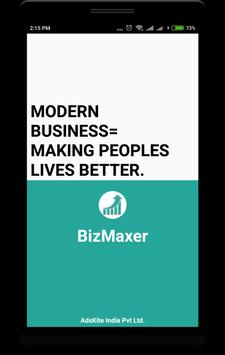 BizMaxer -SMARKETING(Sales+Marketing)App for MSMEs poster