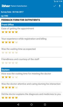 Ibhar Patient Survey apk screenshot