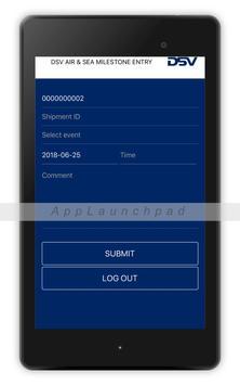 DSV Air & Sea - Milestone Entry App screenshot 2