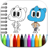 Gumball Coloring Book icon