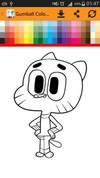 Gumball Coloring Book Apk Screenshot