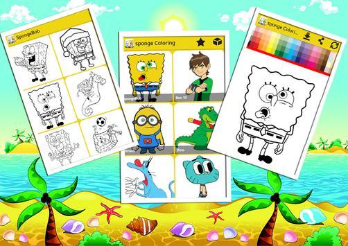 Sponge Coloring Book Bob screenshot 4