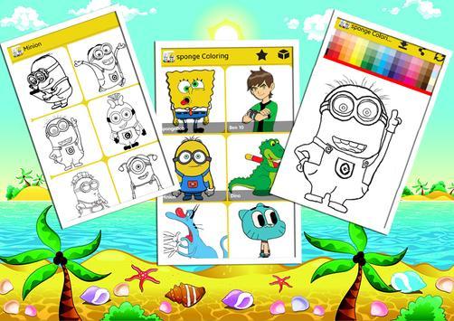 Sponge Coloring Book Bob screenshot 5