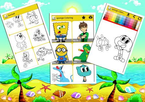 Sponge Coloring Book Bob screenshot 7