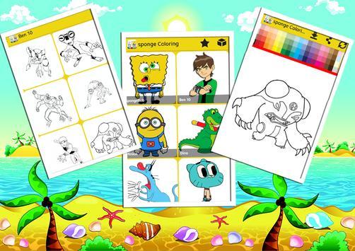 Sponge Coloring Book Bob screenshot 10