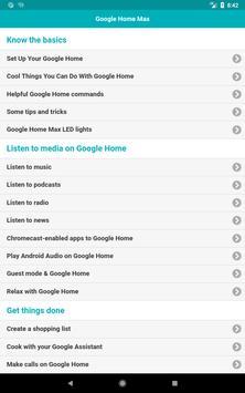 User Guide for Google Home Max apk screenshot
