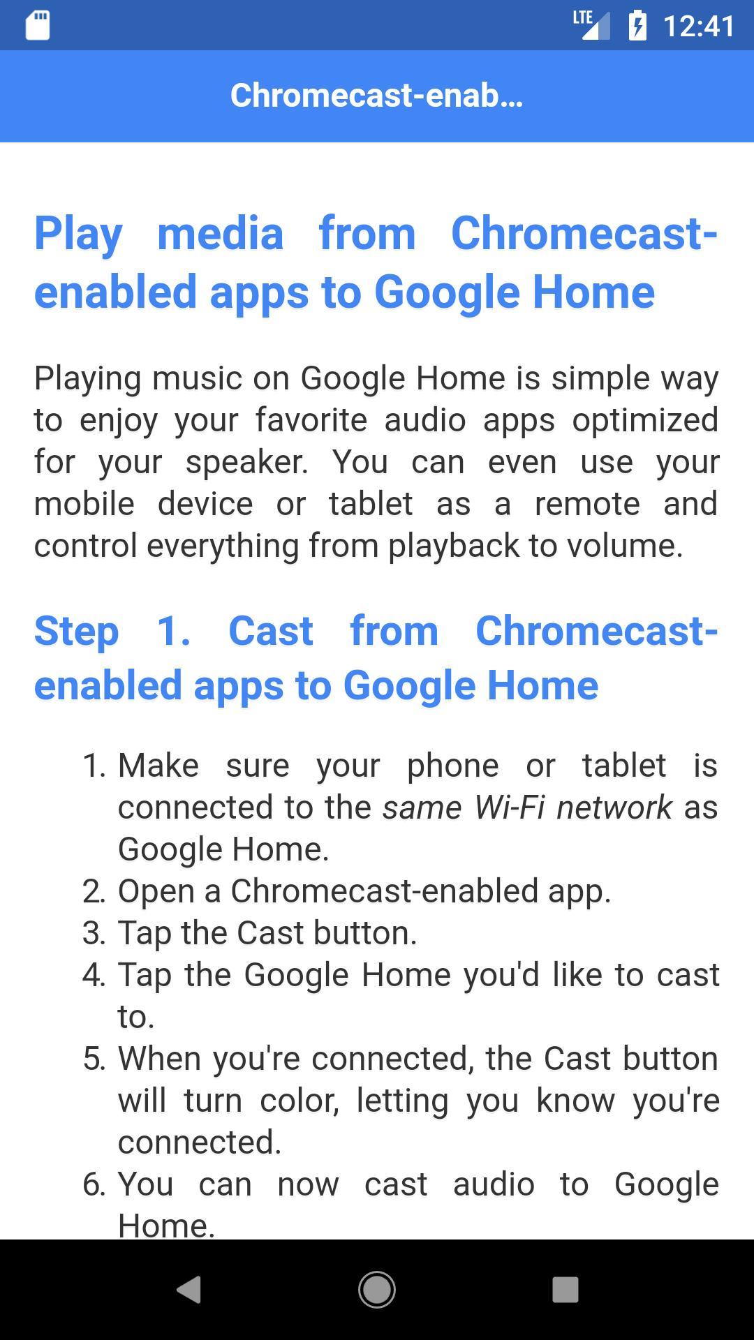 Chromecast Enabled Apps