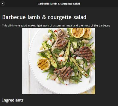 Summer Recipes screenshot 2