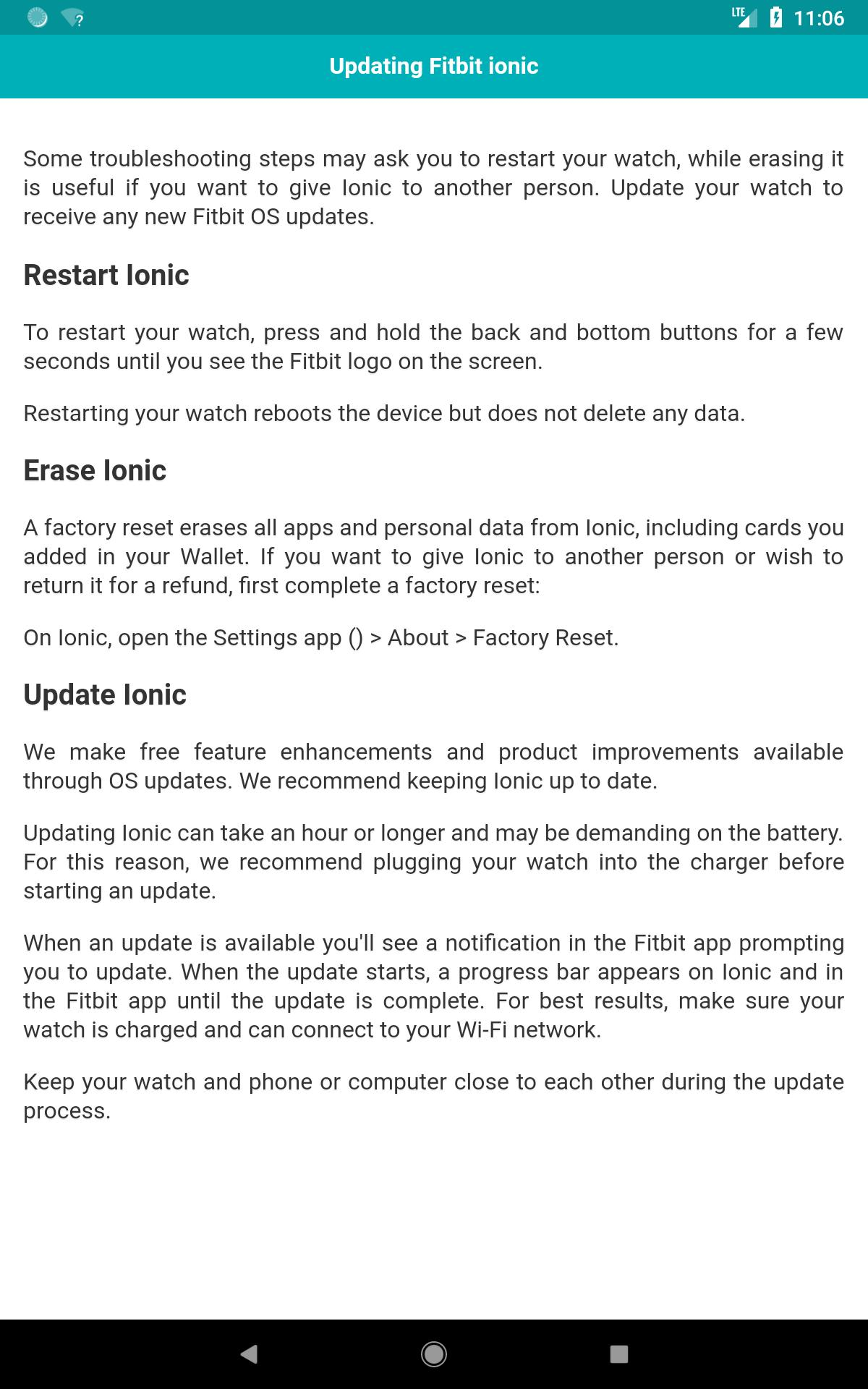 User Guide for Fitbit Ionic for Android - APK Download