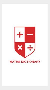Maths Dictionary poster