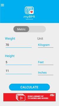 Body Mass Index Calculator apk screenshot
