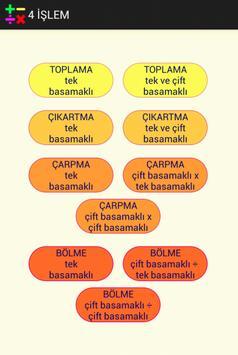 DÖRT İŞLEM ALIŞTIRMALARI poster