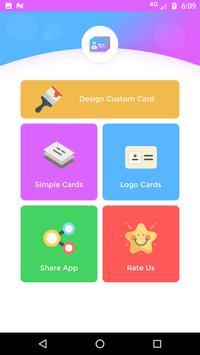 صانع بطاقة الأعمال apk تصوير الشاشة