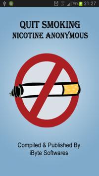 Quit Smoking Nicotine Anon poster