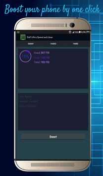 RAM Ultra Speed and Clean apk screenshot