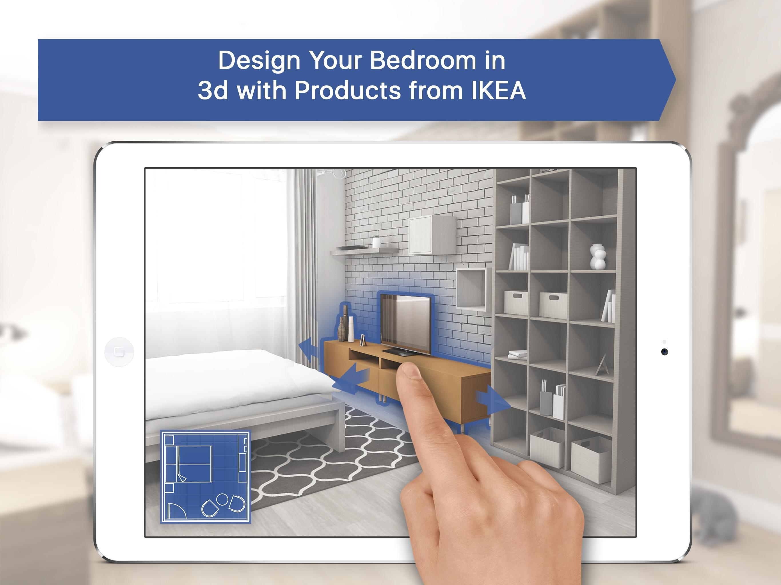 4D Bedroom for IKEA: Room Interior Design Planner for Android