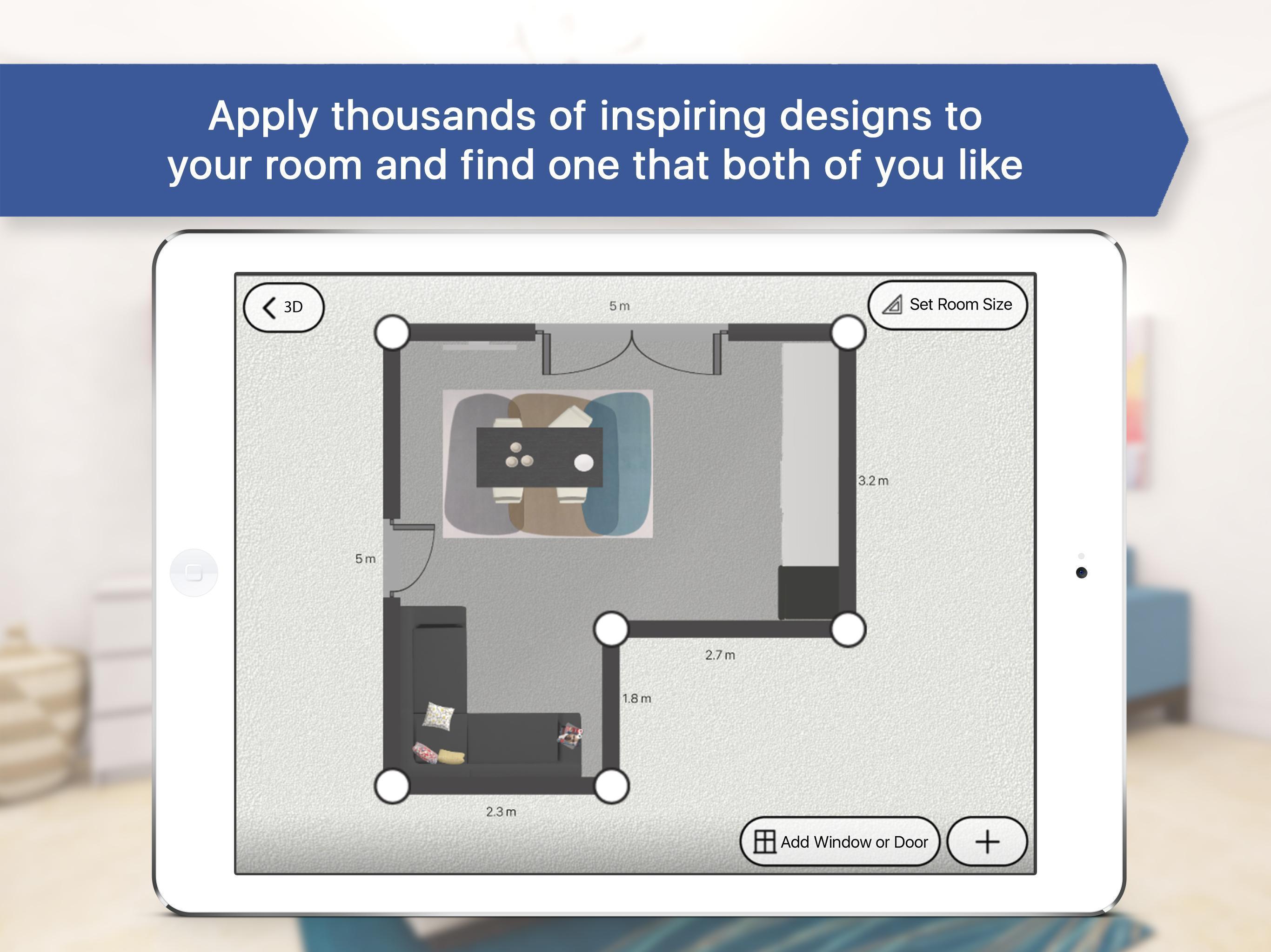 3D Bedroom for IKEA: Room Interior Design Planner for