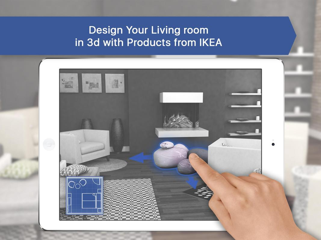 3d living room for ikea interior design planner apk baixar gr tis casa e decora o. Black Bedroom Furniture Sets. Home Design Ideas