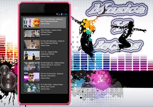 Adexe y Nau - Nuevo Sólo Amigos Musica Y Letras apk screenshot