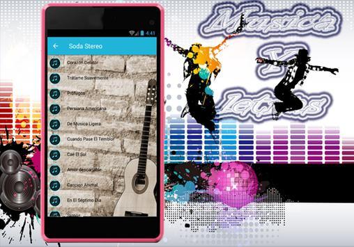 Soda Stereo - Trátame Suavemente Musica y Letra screenshot 1