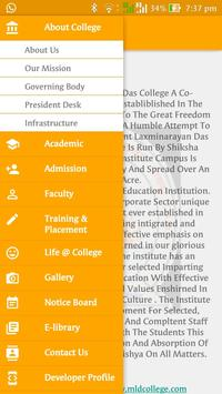 Mahant College App poster
