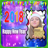Happy New Year 2018 Photo Greetings Frame icon