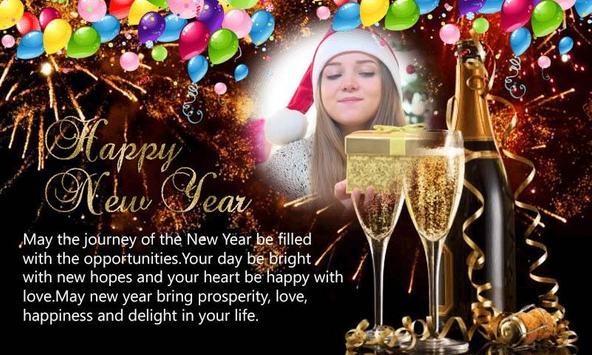 Happy New Year 2018 Photo Greetings Frame screenshot 3