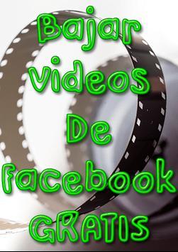 Bajar Videos de Face A Mi Celular Guía Gratis poster