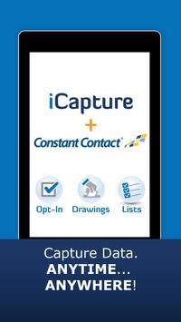 iCapture for Constant Contact poster