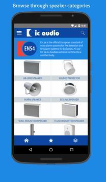 ic audio EN54 poster