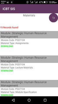 ICBT SIS screenshot 1