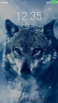 Ice Wolf Live Wallpaper Lock Screen Apk Screenshot