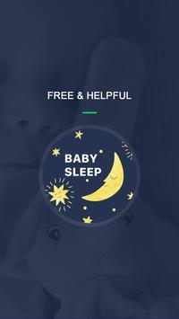Baby sleep white noise poster