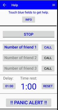 SMS timer - ICE Watchdog Mini - free screenshot 2