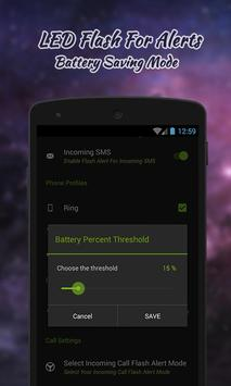 Flash Alerts On Call And SMS apk screenshot