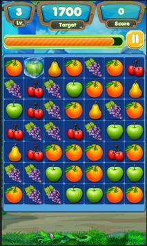 Connected Fruits link match 3 2017 apk screenshot